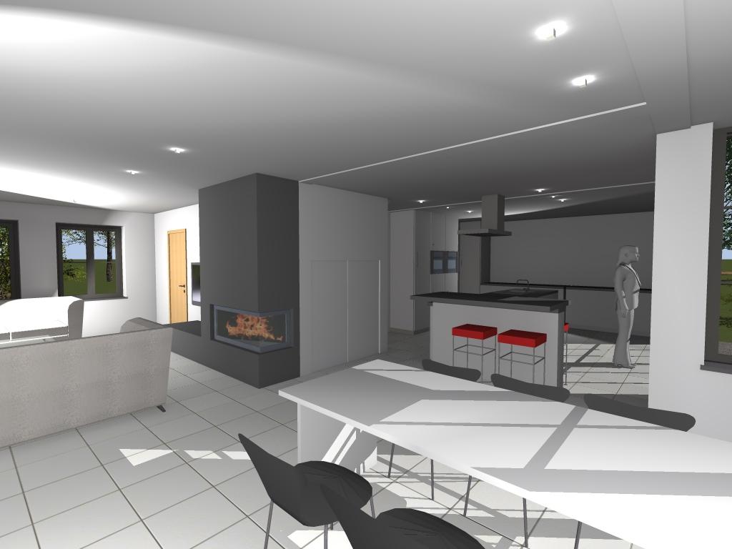 Am nagements int rieurs architecte maison li ge en - Architecture 3d vue 3d ...