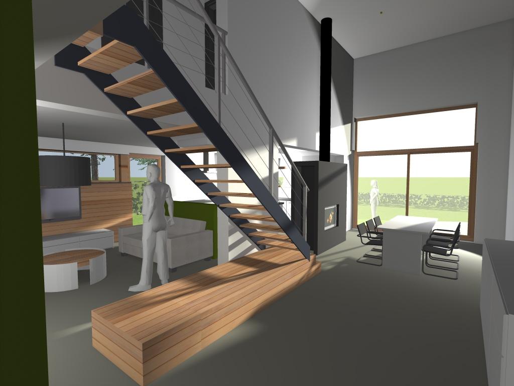 Construction maison grace hollogne en r gion li geoise for Architecture 3d vue 3d